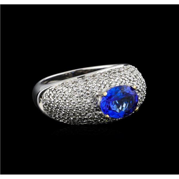 14KT White Gold 1.85 ctw Tanzanite and Diamond Ring