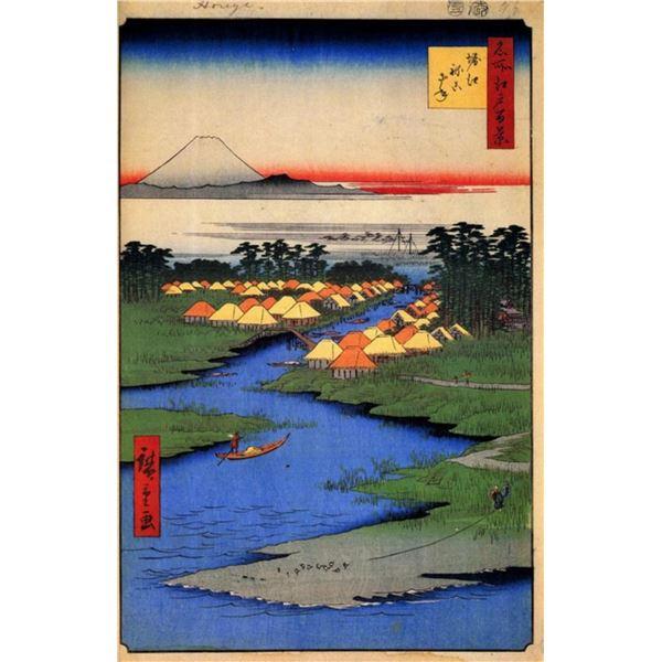 Hiroshige  - Horie and Nekozane