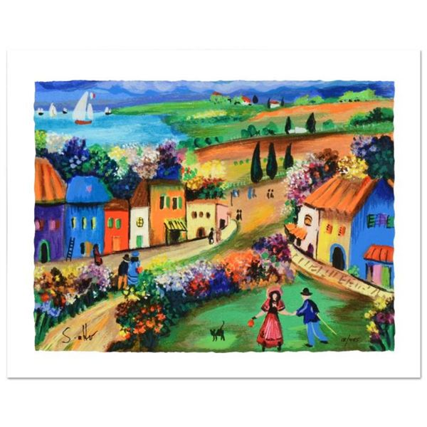 """Shlomo Alter, """"The Village"""" Limited Edition Serigraph, Numbered and Hand Signed"""