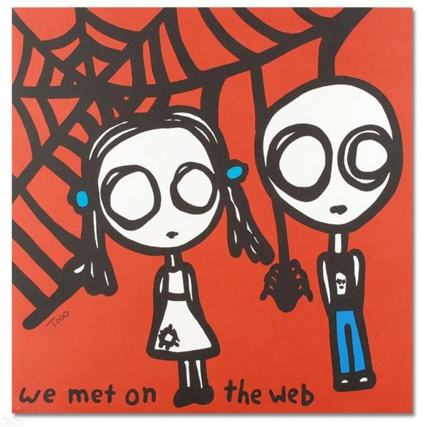 """""""We Met on the Web"""" Limited Edition Lithograph by Todd Goldman, Numbered and Han"""