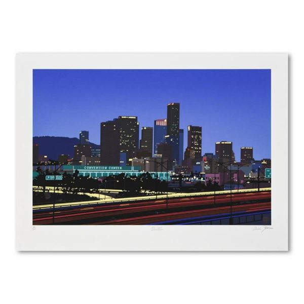 """Armond Fields (1930-2008), """"Downtown"""" Limited Edition Hand Pulled Original Serig"""