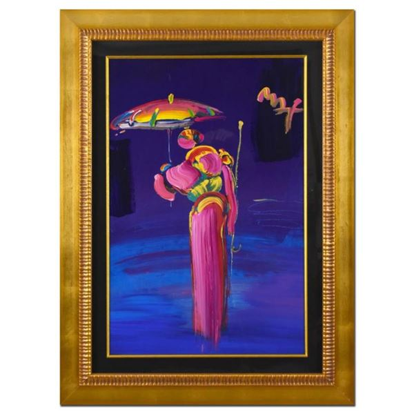 Umbrella Man with Cane by Peter Max