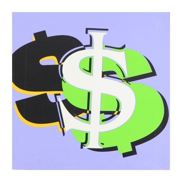 Dollar Sign (Purple) by Steve Kaufman (1960-2010)