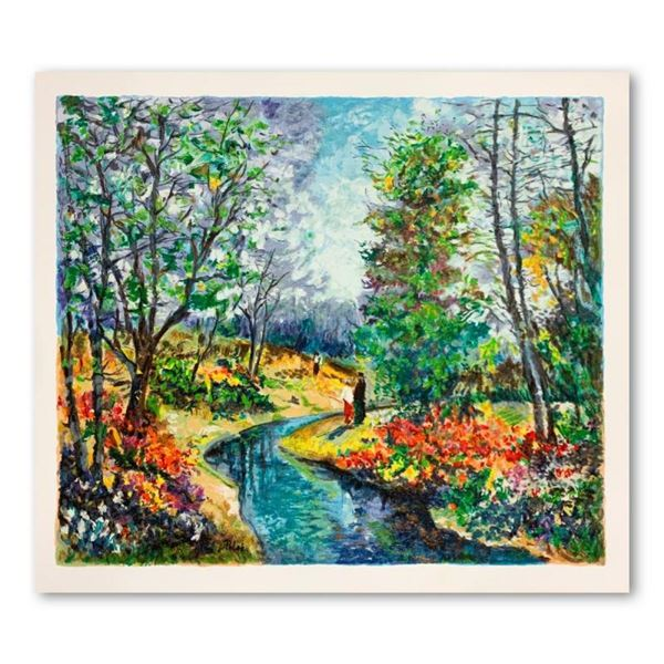 "Dimitri Polak (1922-2008), ""Autumn Stream"" Hand Signed Limited Edition Serigraph"