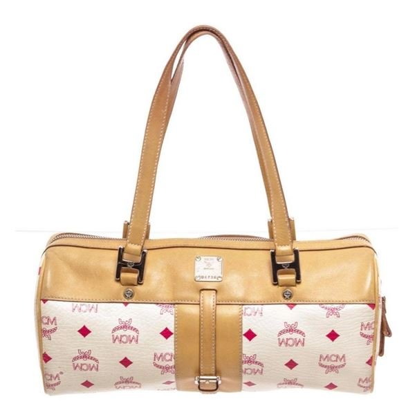 MCM White Tote Bag