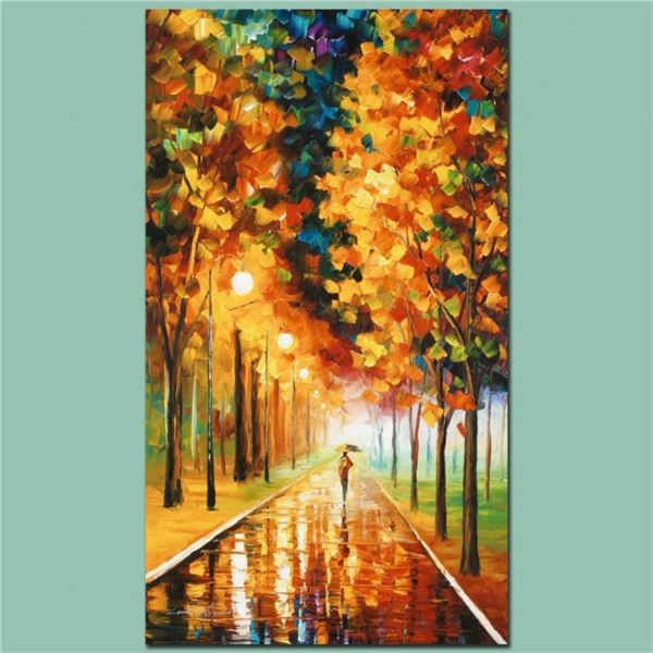 "Leonid Afremov (1955-2019) ""Light of Autumn"" Limited Edition Giclee on Canvas, N"
