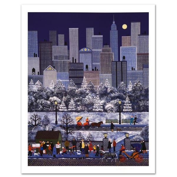 """Jane Wooster Scott, """"New York, New York"""" Hand Signed Limited Edition Lithograph"""