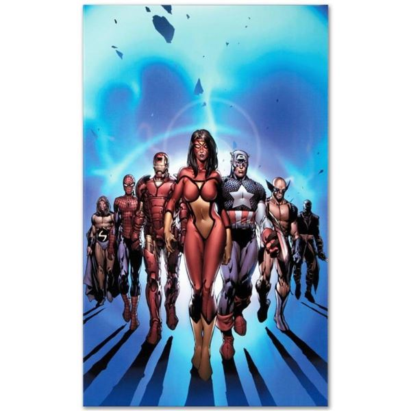 """Marvel Comics """"New Avengers #7"""" Numbered Limited Edition Giclee on Canvas by Dav"""