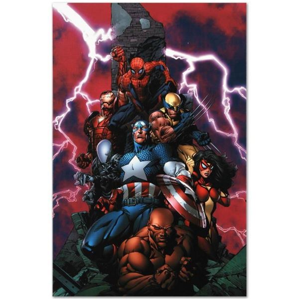 """Marvel Comics """"New Avengers #1"""" Numbered Limited Edition Giclee on Canvas by Dav"""
