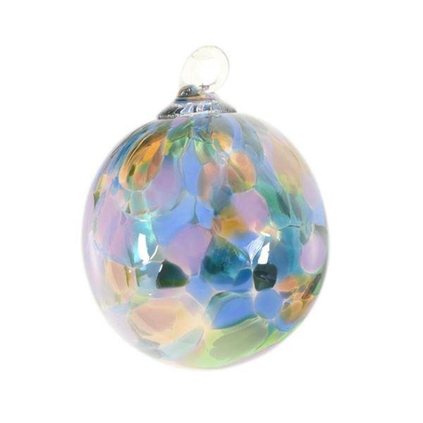 "Glass Eye Studios, ""Ornament (Purple Mystique)"" Hand Blown Glass Sculpture (Seco"