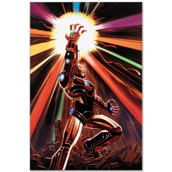 """Marvel Comics """"Avengers #12"""" Numbered Limited Edition Giclee on Canvas by John R"""