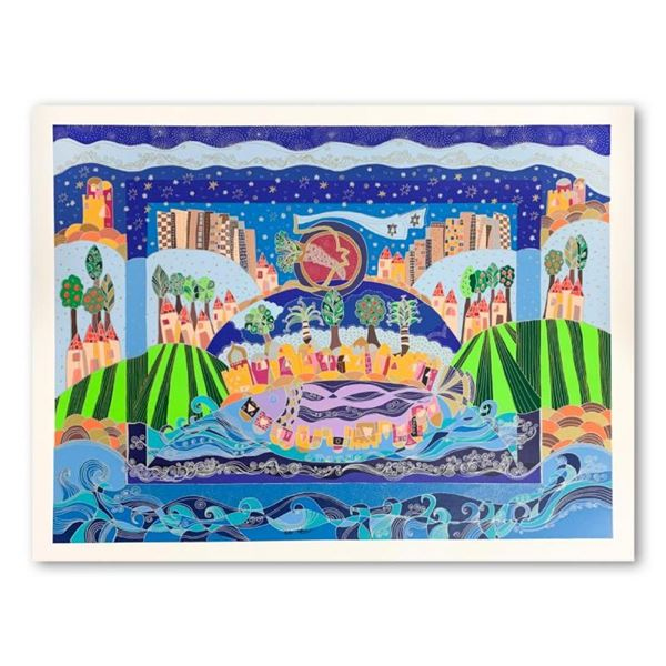 """Ilan Hasson, """"The Promised Land"""" Hand Signed Limited Edition Serigraph on Paper"""