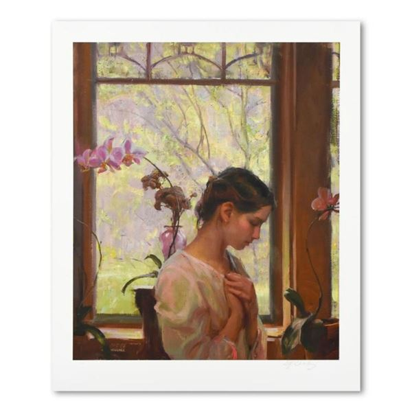 """Dan Gerhartz, """"The Orchid"""" Limited Edition, Numbered and Hand Signed with Letter"""