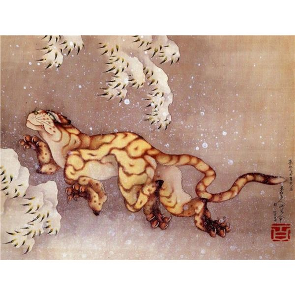 Hokusai - Tiger in the Snow