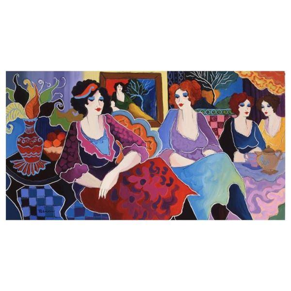 "Patricia Govezensky, ""Cafe Laguna"" Hand Signed Limited Edition Giclee on Canvas"