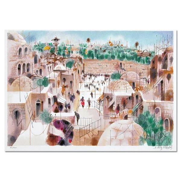 "Shmuel Katz (1926-2010), ""The Jewish Quarter"" Hand Signed Limited Edition Serigr"