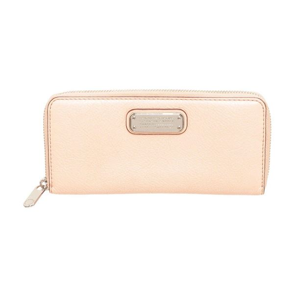 Marc By Marc Jacobs Light Pink Leather Classic Q Zippy Wallet