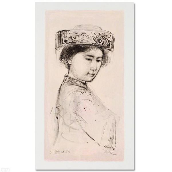 """""""Yasmin"""" Limited Edition Lithograph by Edna Hibel (1917-2014), Numbered and Hand"""