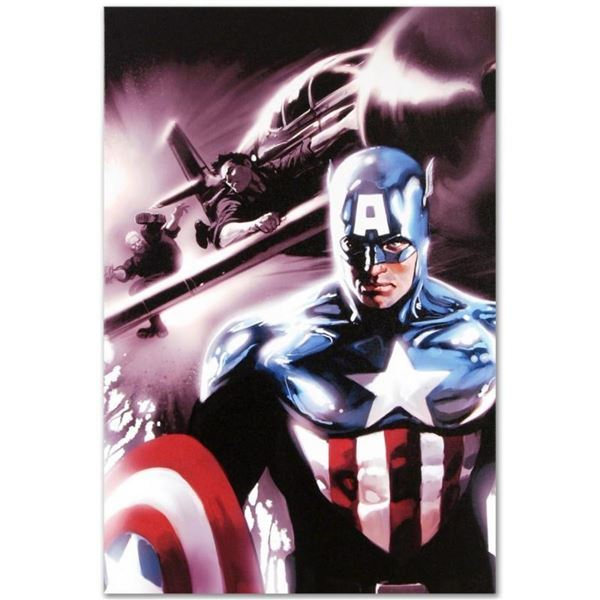 """Marvel Comics """"Captain America #609"""" Numbered Limited Edition Giclee on Canvas b"""