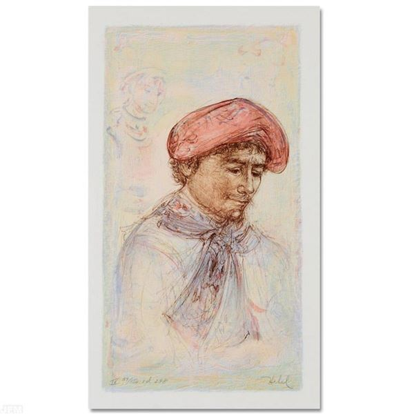 """""""Toni"""" Limited Edition Lithograph by Edna Hibel (1917-2014), Numbered and Hand S"""