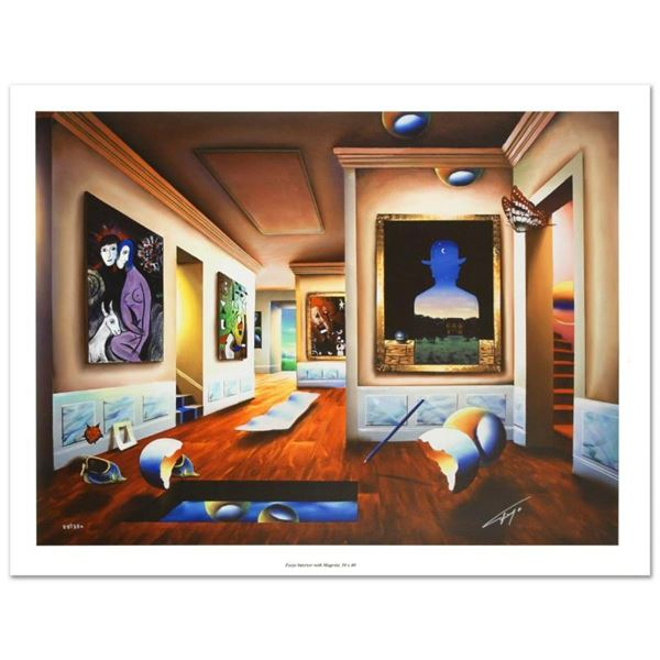 """""""Interior with Magritte"""" Limited Edition Giclee on Canvas (40"""" x 30"""") by Ferjo,"""