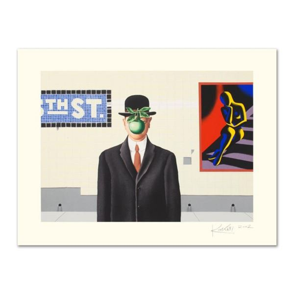 """Mark Kostabi, """"Going Places"""" Limited Edition Serigraph, Numbered and Hand Signed"""