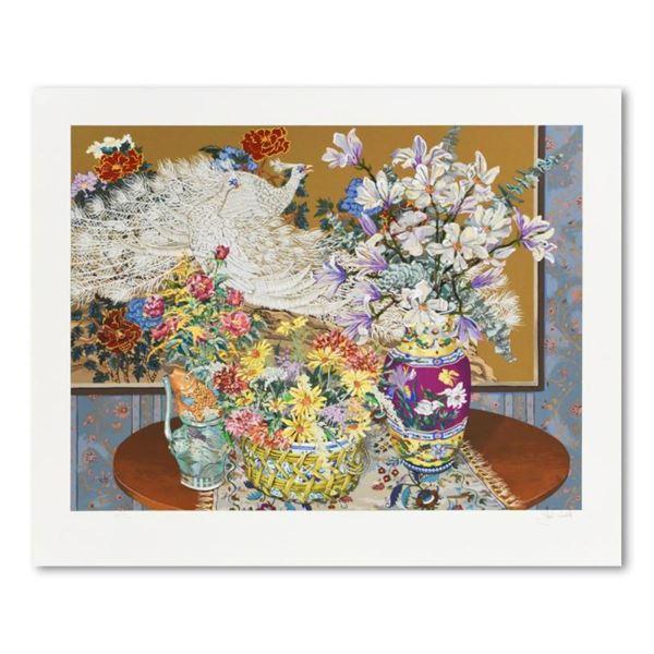 Peacocks & Flowers by Powell, John