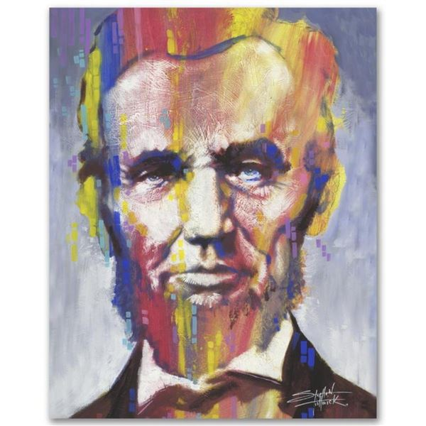 """""""Abe"""" Limited Edition Giclee on Canvas by Stephen Fishwick, Numbered and Signed."""