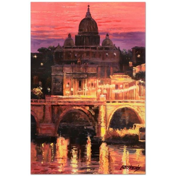 """Howard Behrens (1933-2014), """"Sunset Over St. Peter's"""" Limited Edition Hand Embel"""