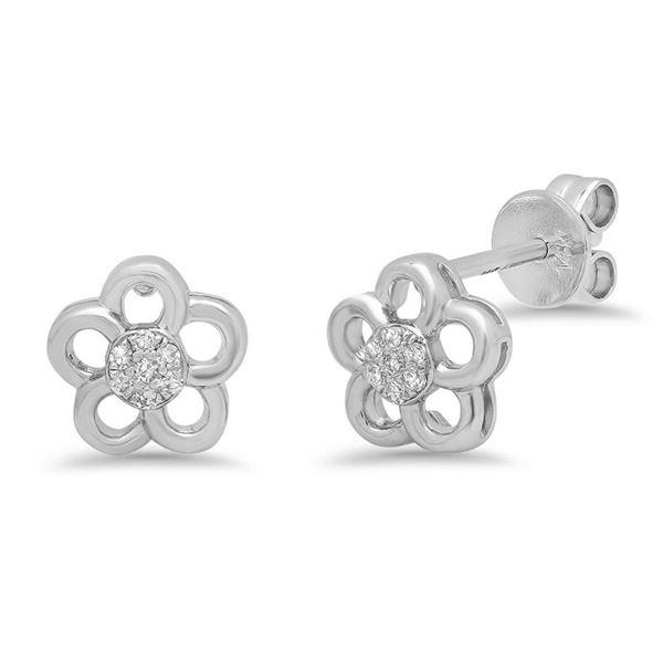 14k Gold 0.05CTW Diamond Earrings, (I1)