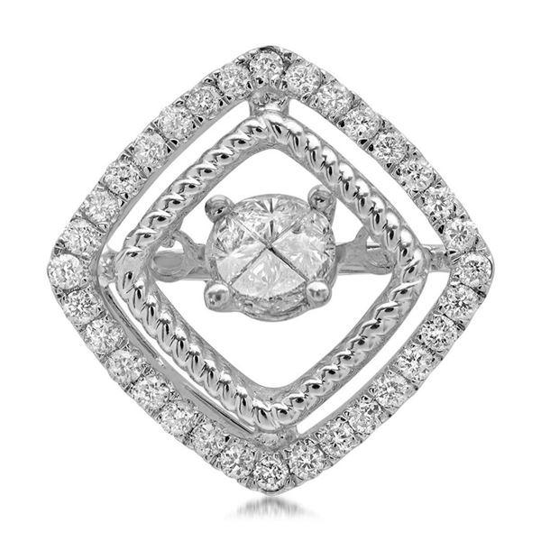 14k Gold 0.41CTW Diamond Pendant, (SI2/G)