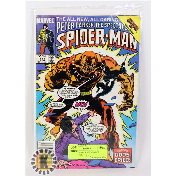 MARVEL COMICS SPIDERMAN  COMIC BOOK