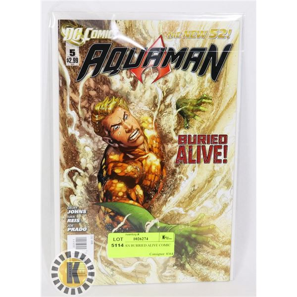 AQUAMAN BURIED ALIVE COMIC BOOK