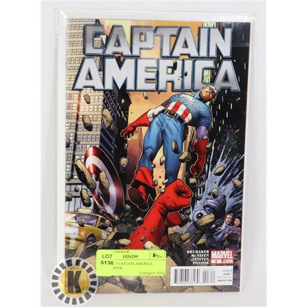 MARVEL 3 CAPTAIN AMERICA COMIC BOOK