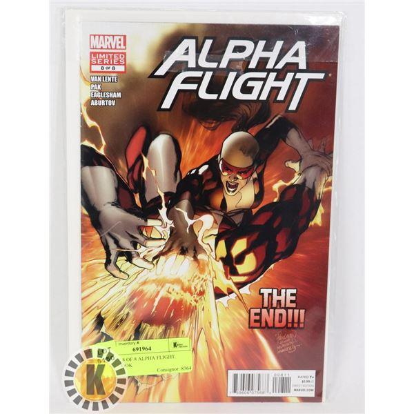 MARVEL 8 OF 8 ALPHA FLIGHT COMIC BOOK