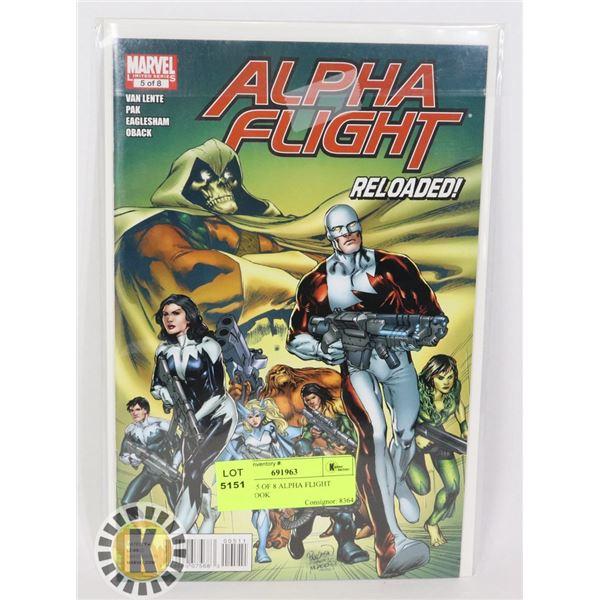 MARVEL 5 OF 8 ALPHA FLIGHT COMIC BOOK