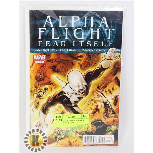 MARVEL 2 OF 8 COMICS ALPHA FLIGHT COMIC BOOK