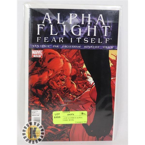 MARVEL 4 OF 8 COMICS ALPHA FLIGHT COMIC BOOK