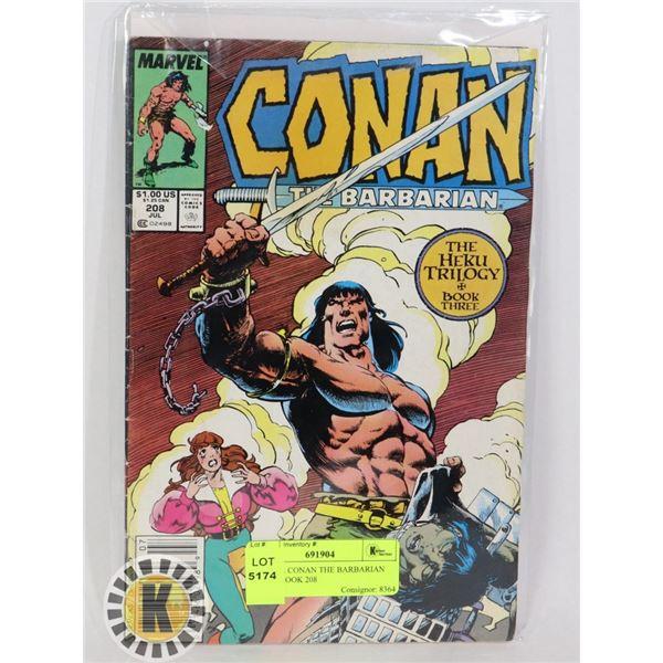 MARVEL CONAN THE BARBARIAN COMIC BOOK 208