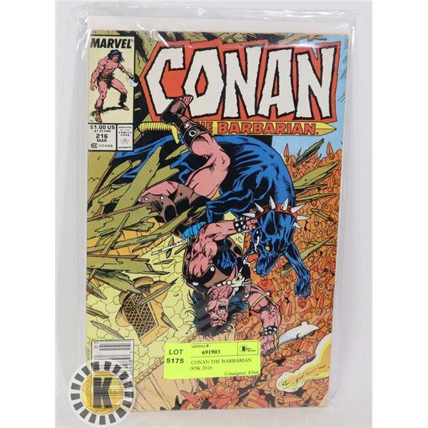 MARVEL CONAN THE BARBARIAN COMIC BOOK 2016