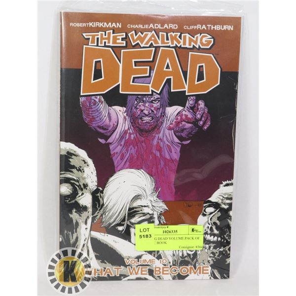 WALKING DEAD VOLUME PACK OF 10 COMIC BOOK