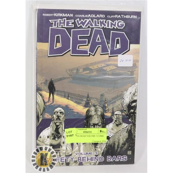 WALKING DEAD VOLUME 3 COMIC BOOK