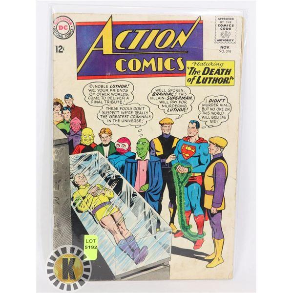 "DC COMICS ACTION COMICS ""THE DEATH OF LUTHOR"""