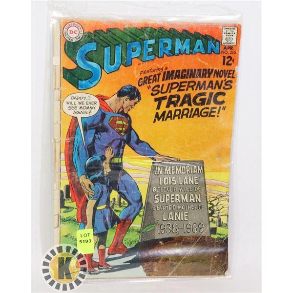 """DC COMICS SUPERMAN """"SUPERMAN'S TRAGIC MARRIAGE"""""""