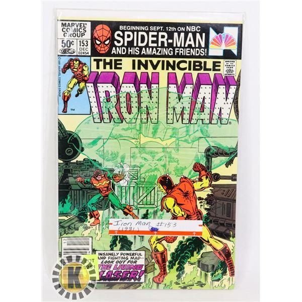 MARVEL COMICS THE INVINCIBLE IRON MAN #153 (1981)
