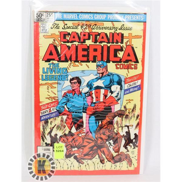 "MARVEL COMICS CAPTAIN AMERICA ""THE LIVING LEGEND"""