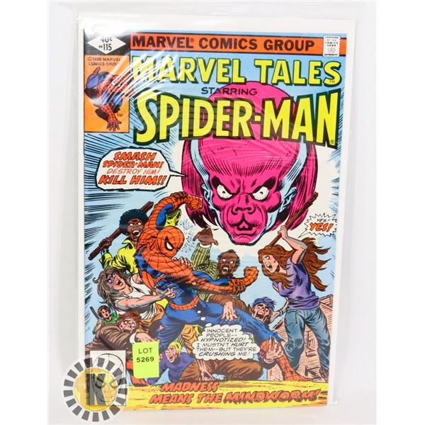 """MARVEL TALES SPIDERMAN """"MADNESS MEANS THE MINDWORM"""