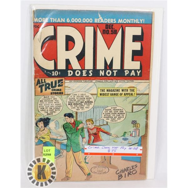 CRIME DOES NOT PAY #58