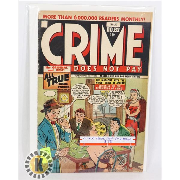 CRIME DOES NOT PAY #62