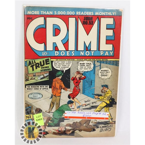 CRIME DOES NOT PAY #52